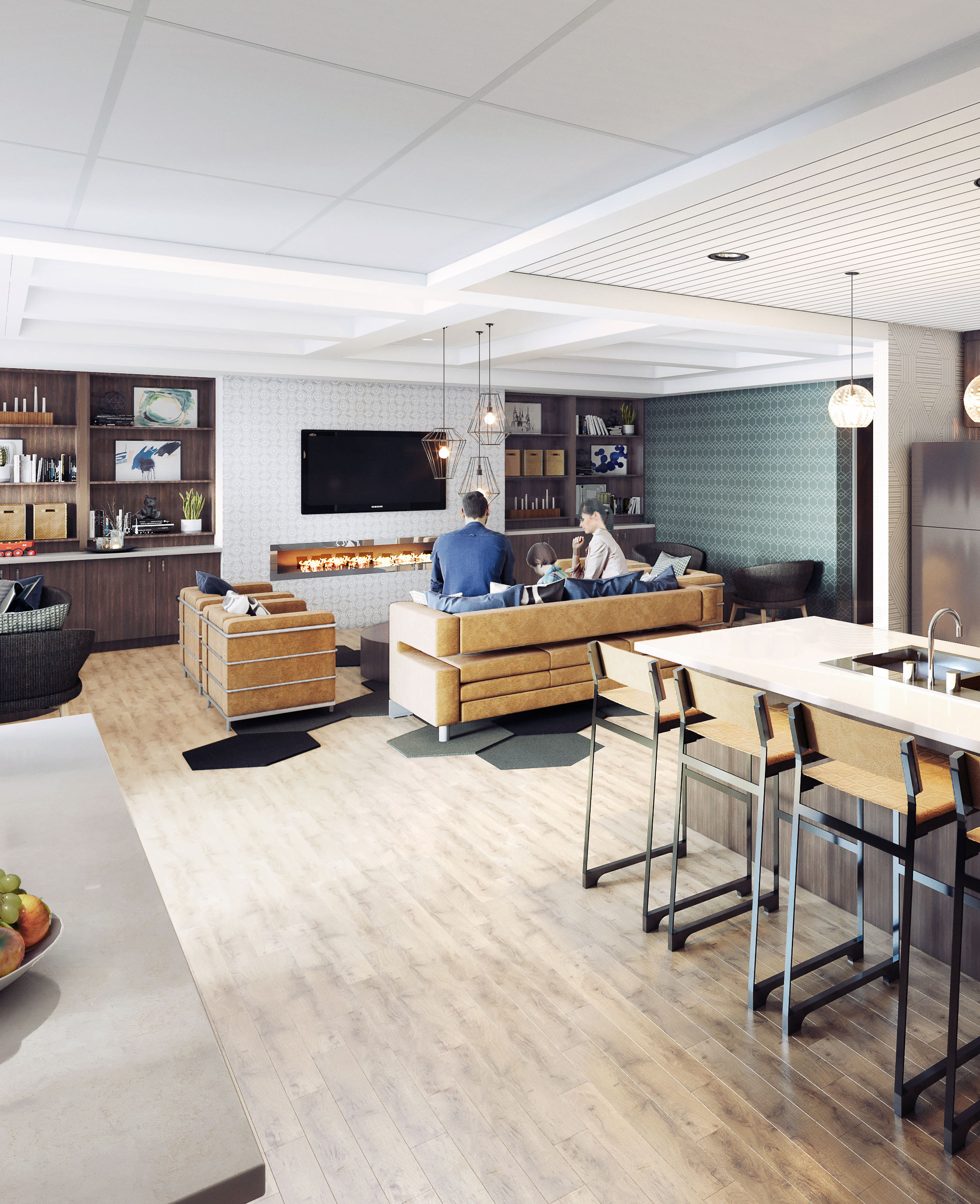 Digital Rendering of inside the new Ronald McDonald Family Room